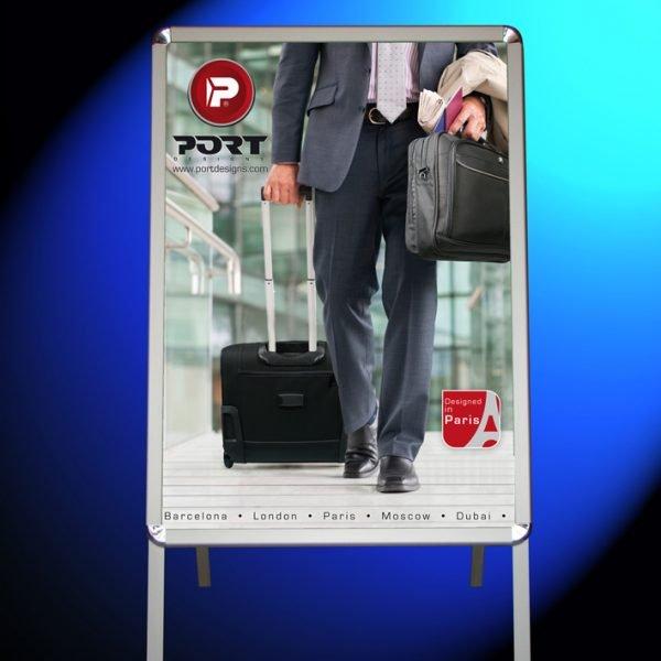 Chevalet publicitaire double-face